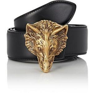 Gucci wolf buckle belt